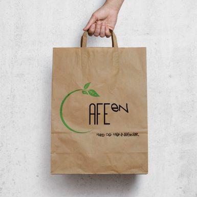 Cafeen - Papirpose med tryk
