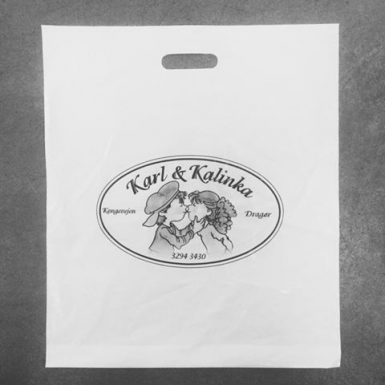 Karl & Kalinka - plastikpose med tryk